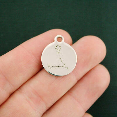Pisces Zodiac Constellation Stainless Steel Charms Quantity Options BFS2958