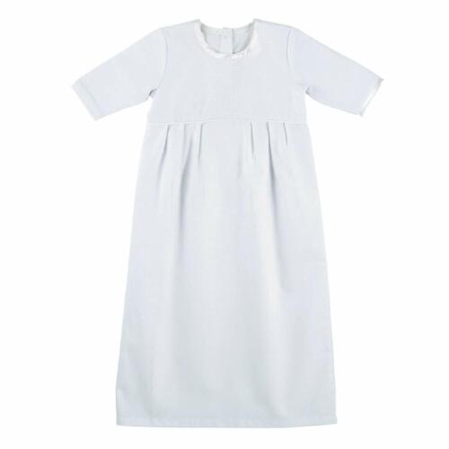 Stephan Baby Boys Keepsake White Christening Baptism Gown 0-3 Months