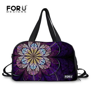 db2ff66e5d Image is loading Floral-Ladies-Gym-Bag-Fashion-Travel-Hand-Luggage-