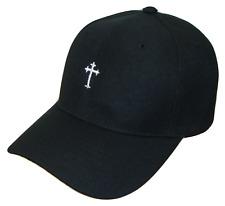Black   White Small Christian Cross Religious Jesus Theme Baseball Cap Caps  Hat 4c5c08384fbc