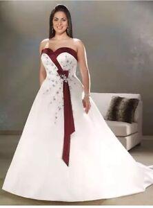 ce529294d0f Plus Size White Ivory   Burgundy purple  Blue wedding Dress Size 18 ...