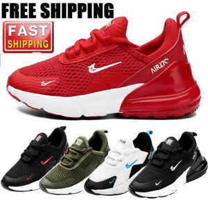 UK Kids Running Trainers Boys Comfort Sports Shoes Mesh School Air Sneakers Size