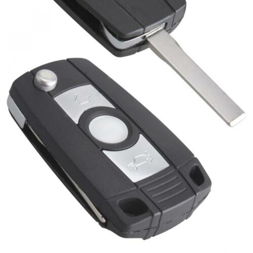 3 Button Refit Key Remote Fob Shell Case No Chip with Uncut Car Flip Key for BMW