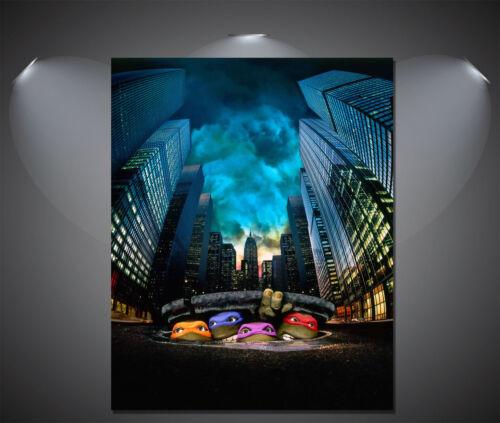 Teenage Mutant Ninja Turtles Classic Movie Large CANVAS Art Print A0 A1 A2 A3 A4
