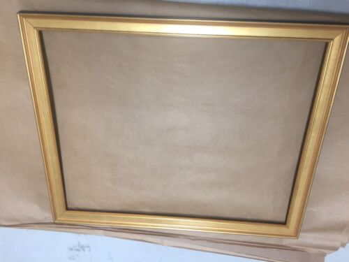 "1 1//4/"" Rich Gold Custom Picture Frame for Documents"