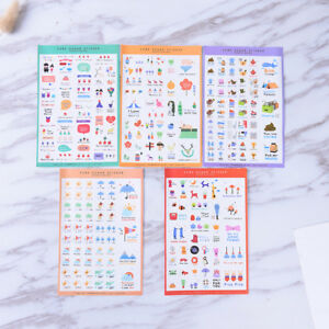 5-Sheets-Cute-Paper-Stickers-For-DIY-Po-Album-Scrapbook-Calendar-Diary-Set-Pip