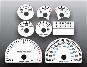 1999-2002-Dodge-Ram-Diesel-Dash-Cluster-White-Face-Gauges-99-02-Fits-Cummins