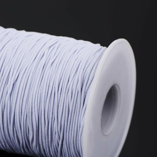 1mm wide Elastic Thread Cord for Shirring Knitting Jewellery Making Accessory