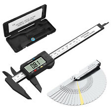 Digital Vernier Caliperstainless Steel Feeler Gauge 6electronic Measuring Tool
