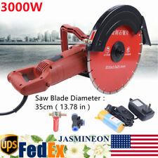 3000w Electric 14 Circular Concrete Cut Off Saw Cutter Masonry Brick Chaser Us