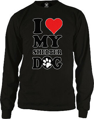 My Shelter Dog Rescued Me Bone Nametag Pet Lover Long Sleeve Thermal