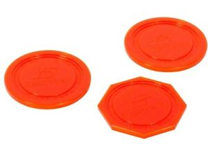 """4 Small Red Home Air Pucks for Table Hockey 2 1//2 inch 2.5/""""."""
