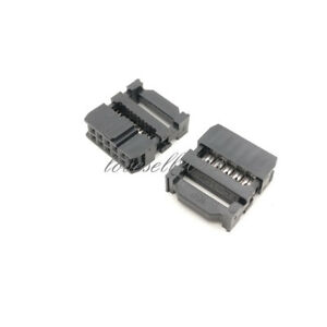 10Pcs 2.54mm Pitch 2x5 Pin 10 Pin IDC FC Female Header Socket Connector FC-10