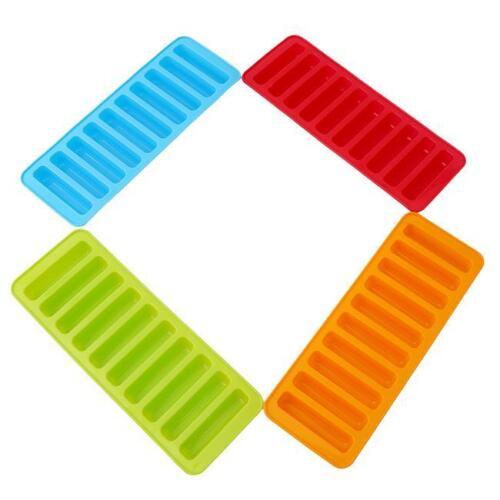 Water Bottle Ice Trays Cylinder Shaped Silicone Molds Cube Stick Tube Sports CS