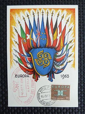 Herrlich Italien Mk 1963 Europa Cept Maximumkarte Carte Maximum Card Mc Cm C4955