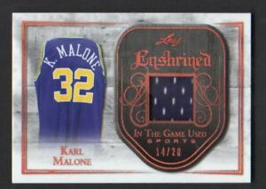 2018-Leaf-In-The-Game-Used-Karl-Malone-Enshrined-jersey-Lakers-HOF-14-20