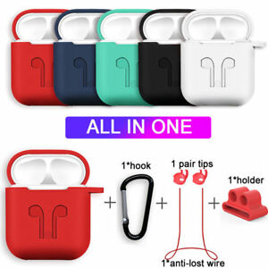 Strap-Holder-amp-Silicone-Case-Cover-For-Apple-AirPod-Air-Pod-Accessories-AirPods