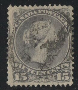 MOTON114-29i-Large-Queen-15c-Canada-used-well-centered