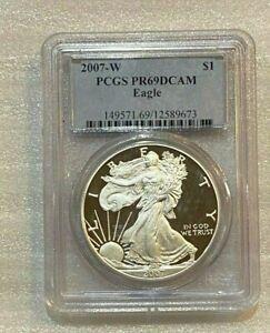 2007-W-Proof-Silver-Eagle-PCGS-PR69DCAM-673