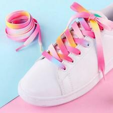 1 Pairs Candy Color Manual Dyeing Gradient Color Shoelaces for Canvas Shoes
