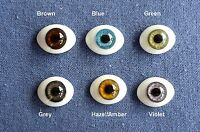 Doll Eyes: Fg High Quality Glass Flat Eyes 18mm: Choice Of Color