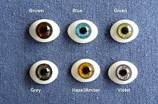 Doll Eyes: #FG High Quality Glass Flat  Eyes 18mm: CHOICE of color