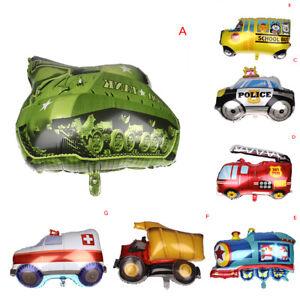 Grosses-Auto-Ballon-Tank-Flugzeug-Krankenwagen-Bus-Feuerwehrauto-Kinder-Geburt-F