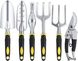 Maysion Garden tools set, 6 PCS Cast-iron Heavy Duty Gardening tools