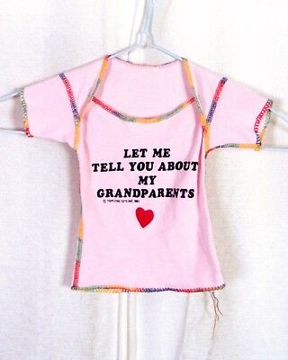Clever Vtg 80er Jahre Baby Neugeborenes Rosa T-shirt Let Me Tell You About My