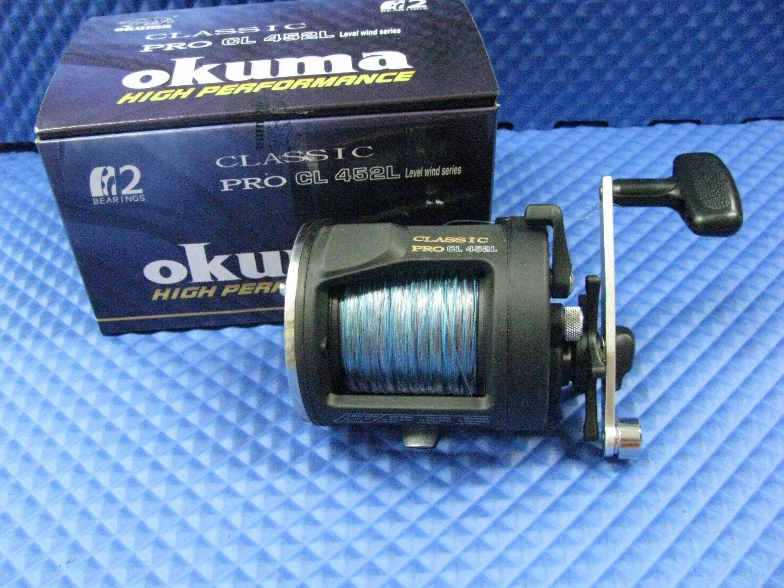 Okuma Classic Pro CL 452L Trolling Reel Pre Spooled with 10 Coloree 27  Lead Core