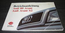 Betriebsanleitung Handbuch Audi 80 B4 Avant S2 Quattro Bedienungsanleitung 1993