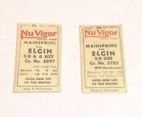 Vintage Nuvigor Mainspring For Elgin