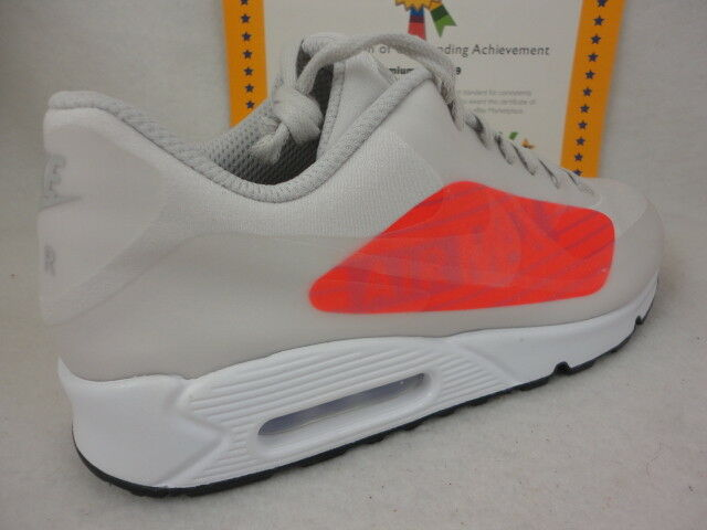 Nike Air Max 90 NS GPX, Neutral Neutral Neutral Grey   Bright Crimson, AJ7182 001, Size 11 86ac37