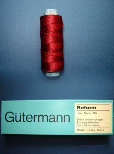 Nähseide 100/% Seide Gütermann OVP 60mtr Gr 30//3 Fb 368  Stickgarn