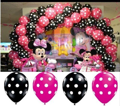 "12/"" Polka Dots Spots Balloons Wedding Polka Dot Latex Helium Spotty All Balloons"