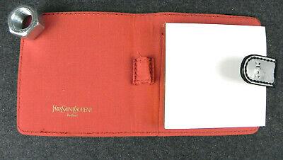 Brioso Yves Saint Laurent Porta Blocknotes Borsellino In Plastica Nero Lucido Pennino