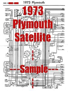 1973 Plymouth Satellite Full Car Wiring Diagram *High ...