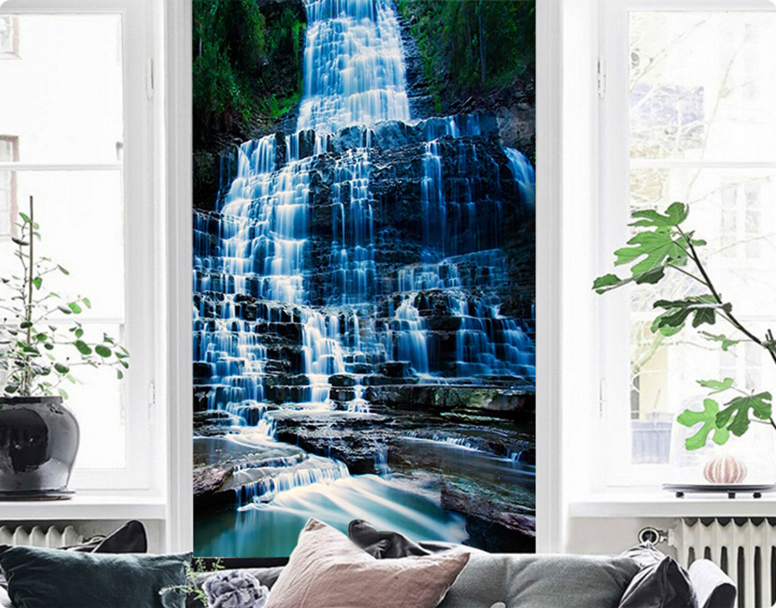 3D Wasserfluss 365 Fototapeten Wandbild Fototapete Bild Tapete Familie Kinder DE