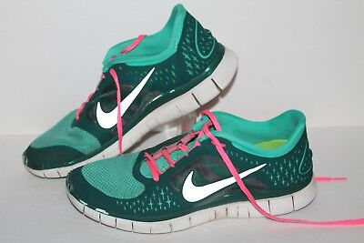 low priced 89ed7 1960e Nike Free Run 3 + Running Shoes, #510643-303, Teal/Pink/Slvr, Womens US  Size 11 | eBay