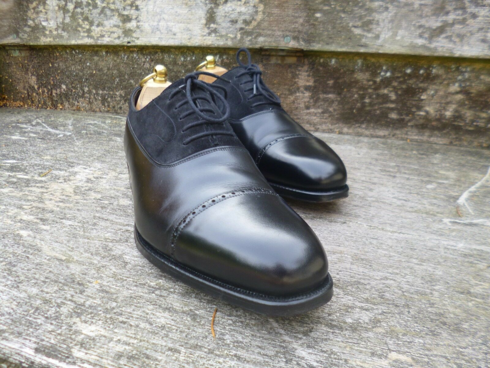 HENRY MAXWELL BROGUES BROGUES BROGUES – BLACK – UK 7 – SUPERB CONDITION - GOOD FOR CHURCH f99d33