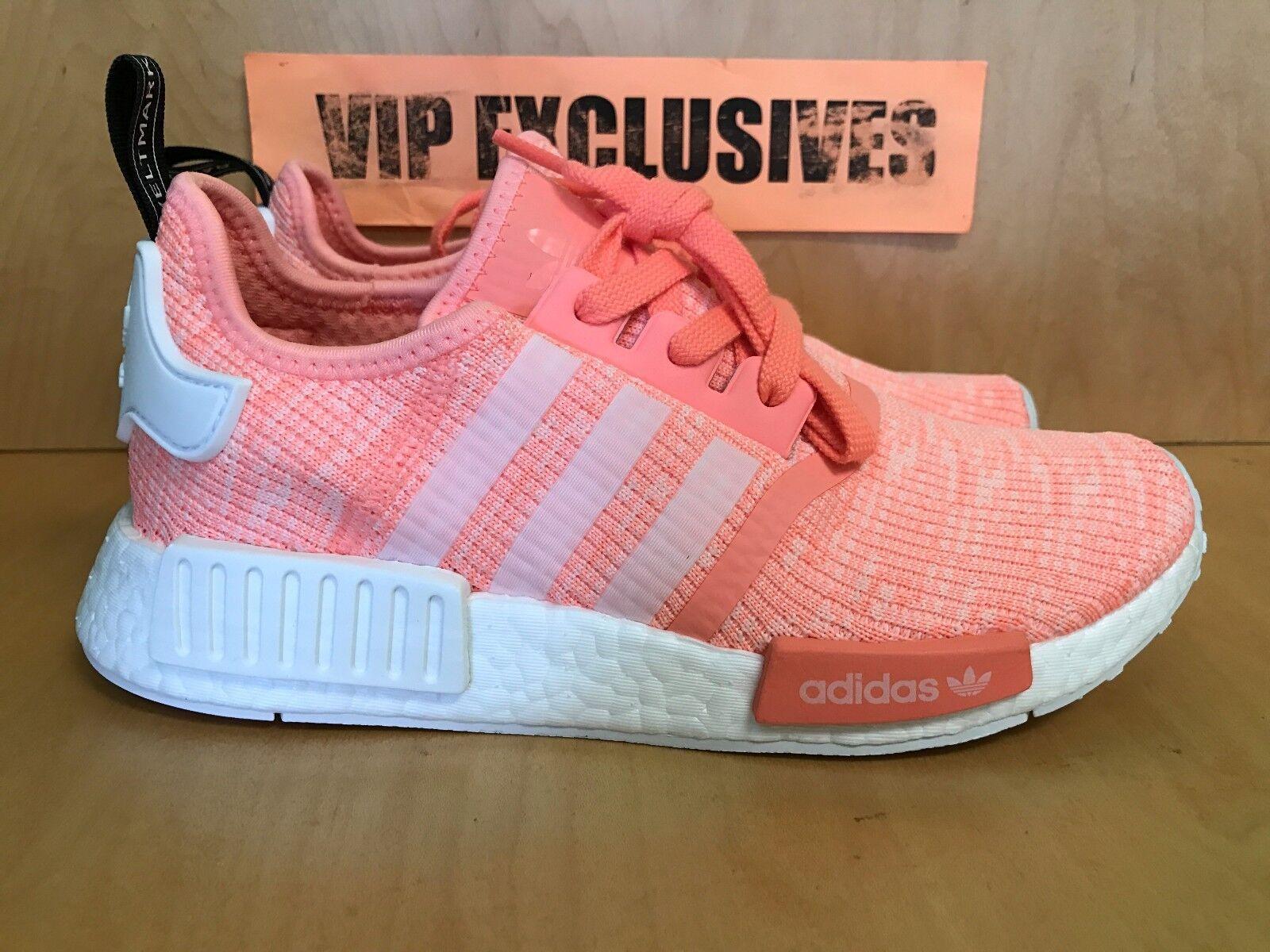 Adidas NMD R1 W Sun Coral Glow Blanco Bright Rosa Coral Sun Naranja by3034 la reducción de precio 59bb88