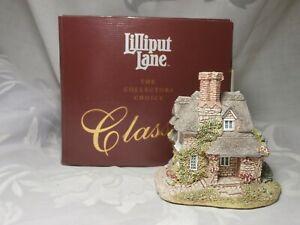 Lilliput-Lane-Classics-aldea-Escultura-034-Roble-Cottage-034-en-Caja-1993-Reino-Unido