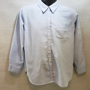 Cabin-Creek-Blue-Woman-039-s-Oxford-LS-Blouse-Size-12P-Wrinkle-Free-Stain-Release
