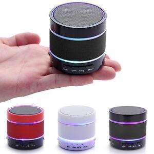 bluetooth led licht kabellos mini lautsprecher speaker musik box mp3 handy pc ebay. Black Bedroom Furniture Sets. Home Design Ideas