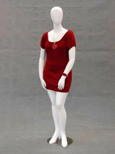 Female Plus Size Egg Head Mannequin Dress Form Display #MD-NANCYW2