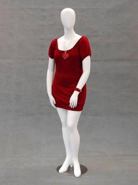 Female Plus Size Egg Head Mannequin Dress Form Display Md Nancyw2