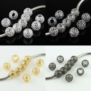 10pcs-Mesh-Net-Round-Ball-Big-Hole-Spacer-Charm-Beads-10mm-for-European-Bracelet