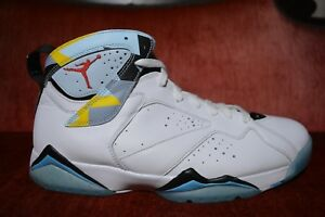 buy popular 0a08f 5ad48 Details about New Limited Nike Air Jordan 7 N7 size 11 White Turquoise Ice  Blue 744804 144