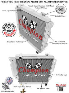 1987-2006 Jeep Wrangler Aluminum 3 Row Champion Radiator
