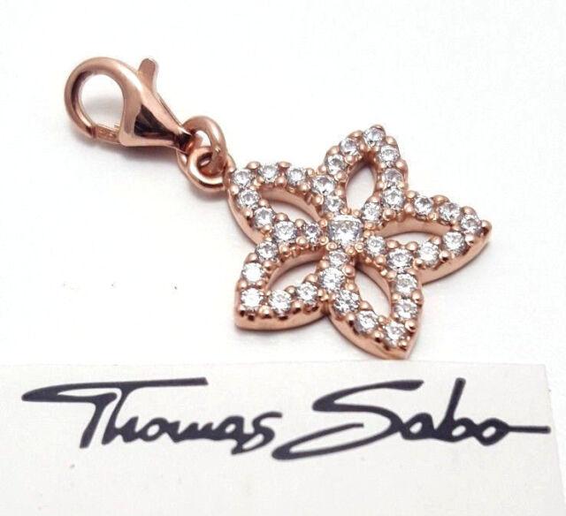 Thomas Sabo Charm UVP-89,00 Blume Blüte rosé vergoldet 925er Silber 0986-416-14